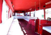 Inside our Double Decker bus...